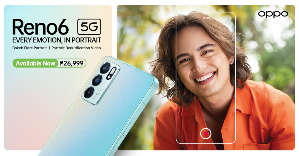 AI Portrait Expert #OPPOReno6 5G Now Officially Available in PH