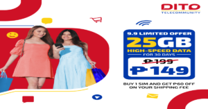 Purchase your DITO SIM Cards online and snag these exciting deals this month!